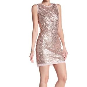 Vince Camuto Pink Sequin Mini - 6 - NWT